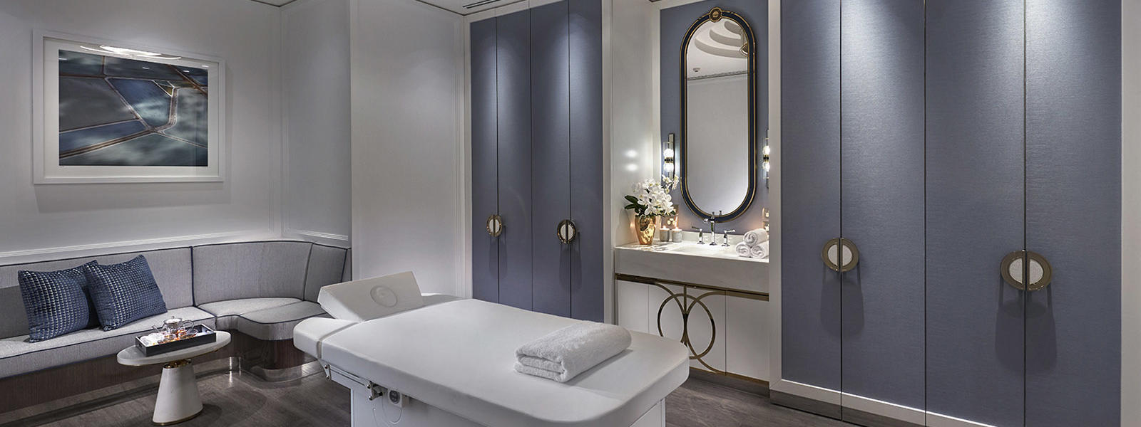Spa center with beds at Crown Hotel Perth