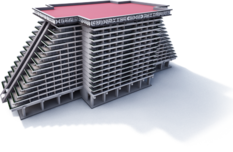 3D image of the exterior view Princess Mundo Imperial