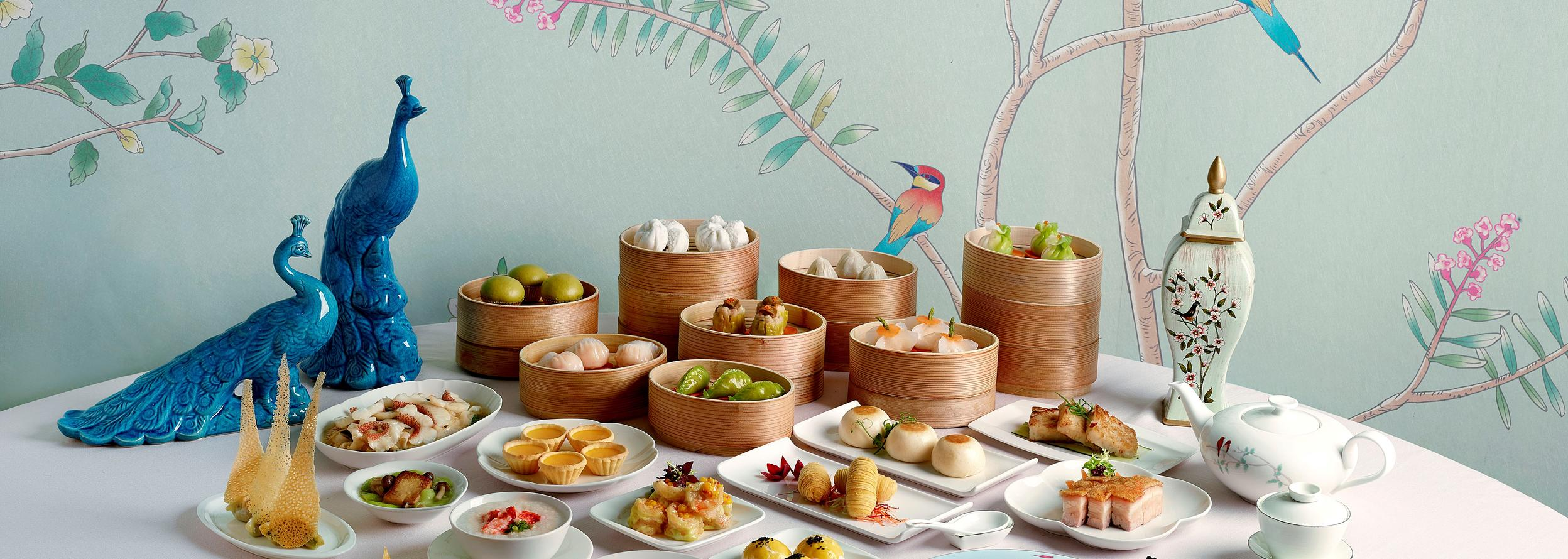 A variety of Dim Sum dishes served at the Jade restaurant
