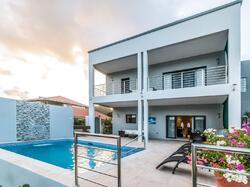 pool at villa