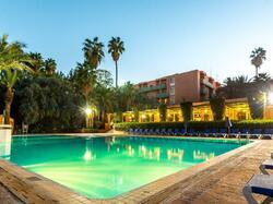 Exterior Pool Side at morning - Farah Marrakech Hotel