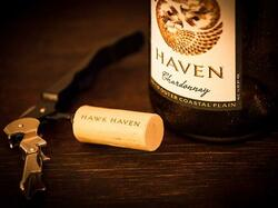 bottle of hawk haven wine