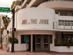 exterior of joe and the juice store entrance
