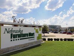 nebraska furniture mart street sign