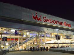 Exterior view of the Smoothie King Center near the hotel
