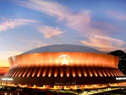 Exterior view of the Superdome near the hotel