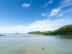 Boat rides in Laem Sing Beach near Chatrium Golf Resort Soi Dao Chanthaburi