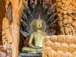 Fascinating statues in King Taksin Shrine near Chatrium Golf Resort Soi Dao Chanthaburi