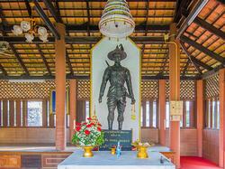 Statues in Wat Thong Thua near Chatrium Golf Resort Soi Dao Chanthaburi