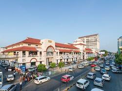 Aerial view of Bogyoke Market near Chatrium Hotel Royal Lake Yangon