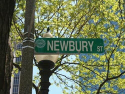 sign for newbury st