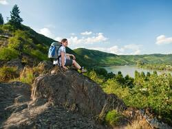 Rhein BurgenWeg hiking trail near hotel Am Martinsberg