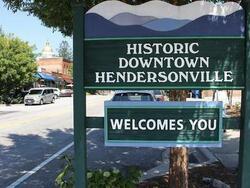 Historic Downtown Hendersonville board near Mountain Inn & Suites