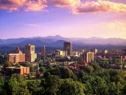 Aerial view of Downtown Asheville near Mountain Inn & Suites