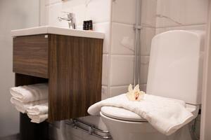 Bathroom at Hotel Gamla Stan in Stockholm