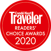 Readers choice award 2020 logo  at Grand Hotel Minerva