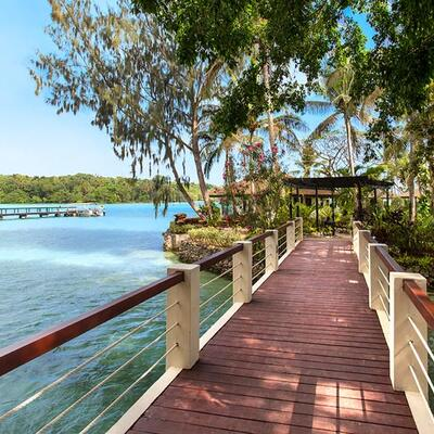 Overwater Bridge at Warwick Le Lagon Vanuatu