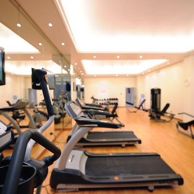 Gym mavhines at Al Hamra Palace by Warwick