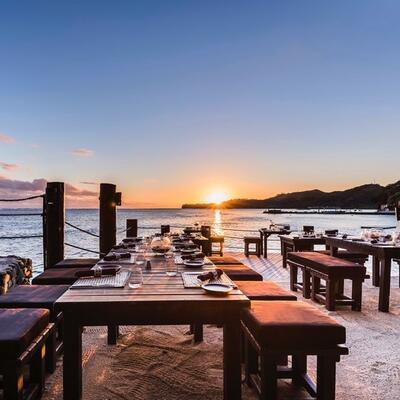 Wicked Walu Sunset Terrace at Warwick Fiji
