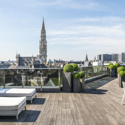 Suite Grand Place Terrace with transats
