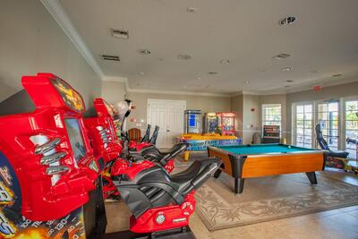 Arcade games and pool table