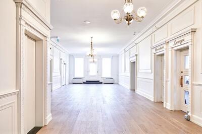 Second floor reception