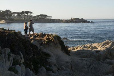 Monterey rocks overlook ocean