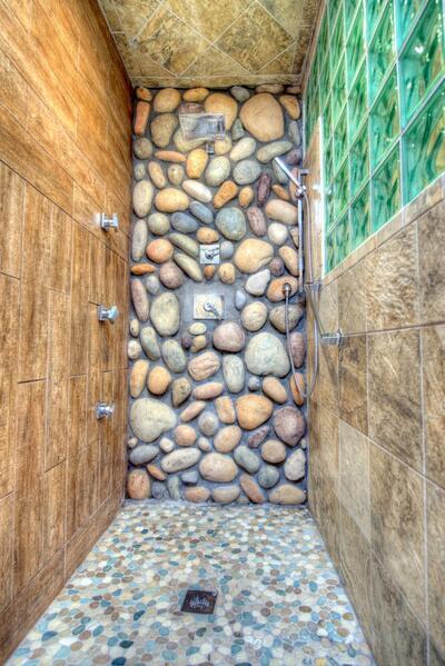 island retreat shower
