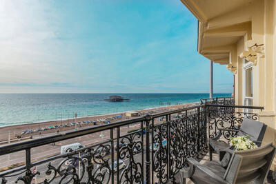 Balcony view from The Grand Brighton in East Sussex, United King