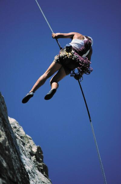 Female mountain climber