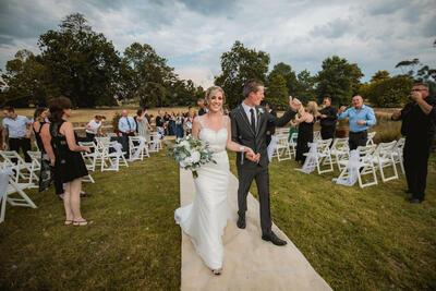 Outdoor Wedding Ceremony - Romantic Venues at Yarra Valley Lodge