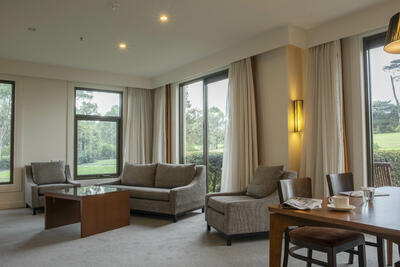 Dining & Lounge Area in One Bedroom Suite - Yarra Valley Lodge