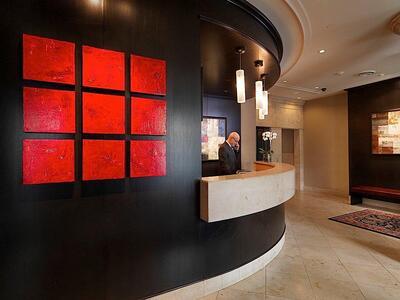 Lobby and reception area.