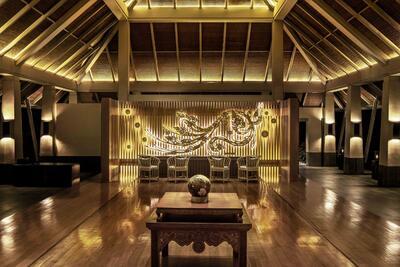 Interior of Amatara Wellness Resort Lobby