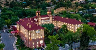 Aerial view of Hotel Colorado