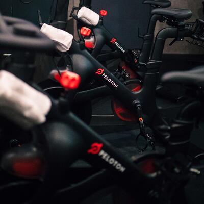 cycle bikes labeled peloton