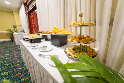 appetizers in event room