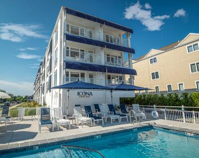 exterior of icona cape may with pool