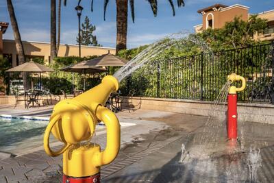 splash zone by pool