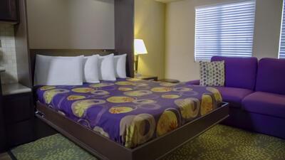 Bed in Resort Studio Suite.
