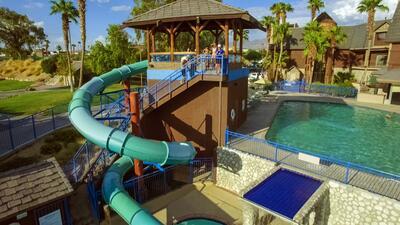 Water slide and outdoor pool at Kokomo Havasu.
