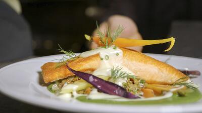 fancy salmon dish
