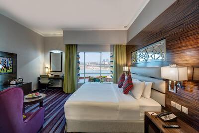 Deluxe Room at Ghaya Grand Hotel Dubai