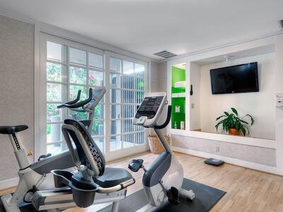 cardio machine in fitness center