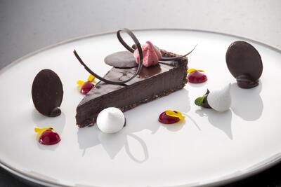 The Retreat - Raw Dark Chocolate Tart