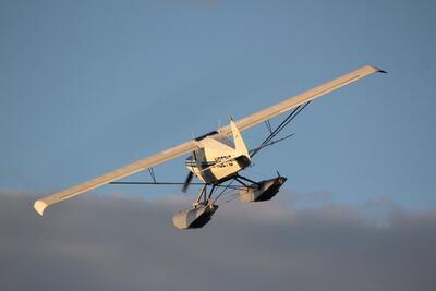 Seaplane in flight.