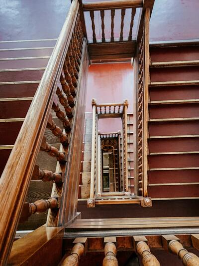 Historic staircase at the Hotel Colorado in Glenwood Springs