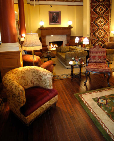 Lobby at the Historic Hotel Colorado in Glenwood Springs