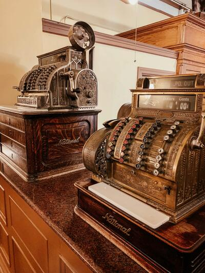 Antique Cash Registers at the Hotel Colorado
