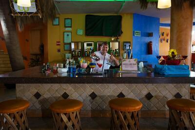 Hotel las palmas by the Sea lobby Bar